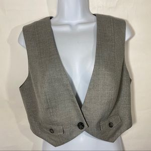 The Limited | Metallic Gray Vest Jacket Size M